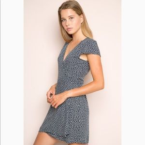 Brandy Melville Dresses - brandy melville navy blue robbie wrap dress
